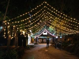 Beautifully illuminated Nayapally Upara Sahi